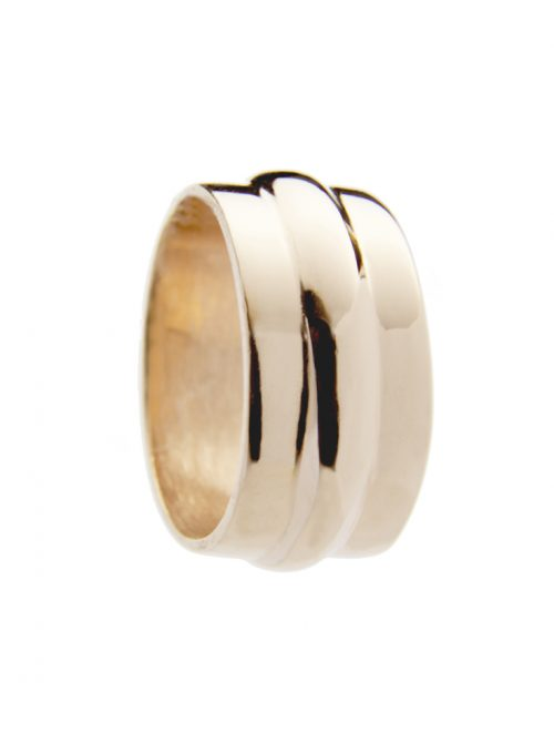 Sterling cast ring with Rose Gold Vermeil