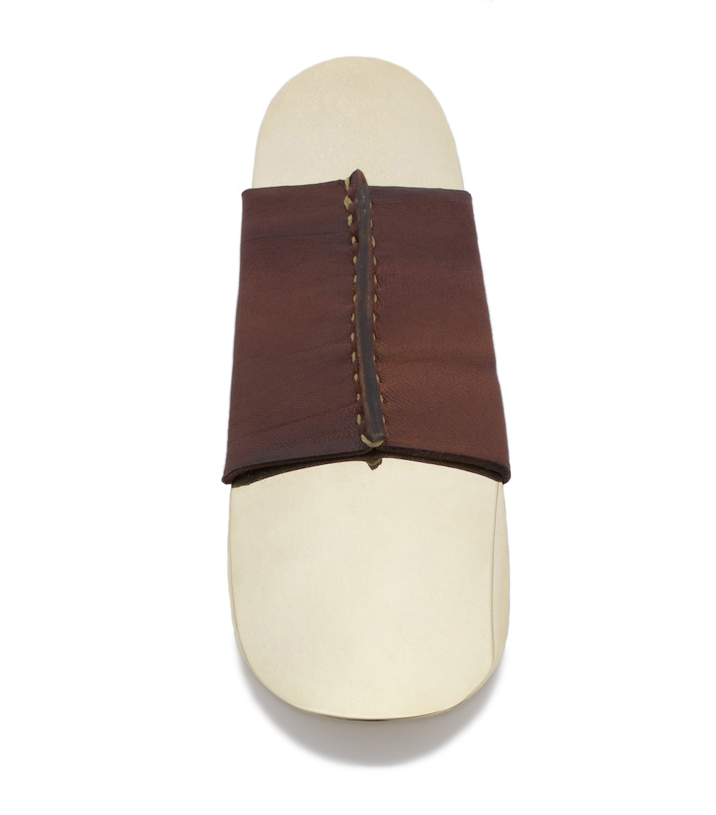 Brass Shoehorn Brown Leather