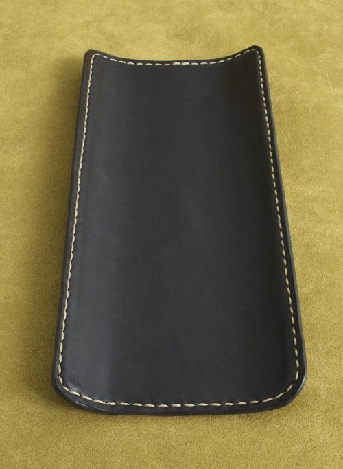 12 in desk tray wrapped black leather