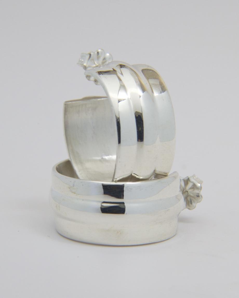 Cast Sterling earrings