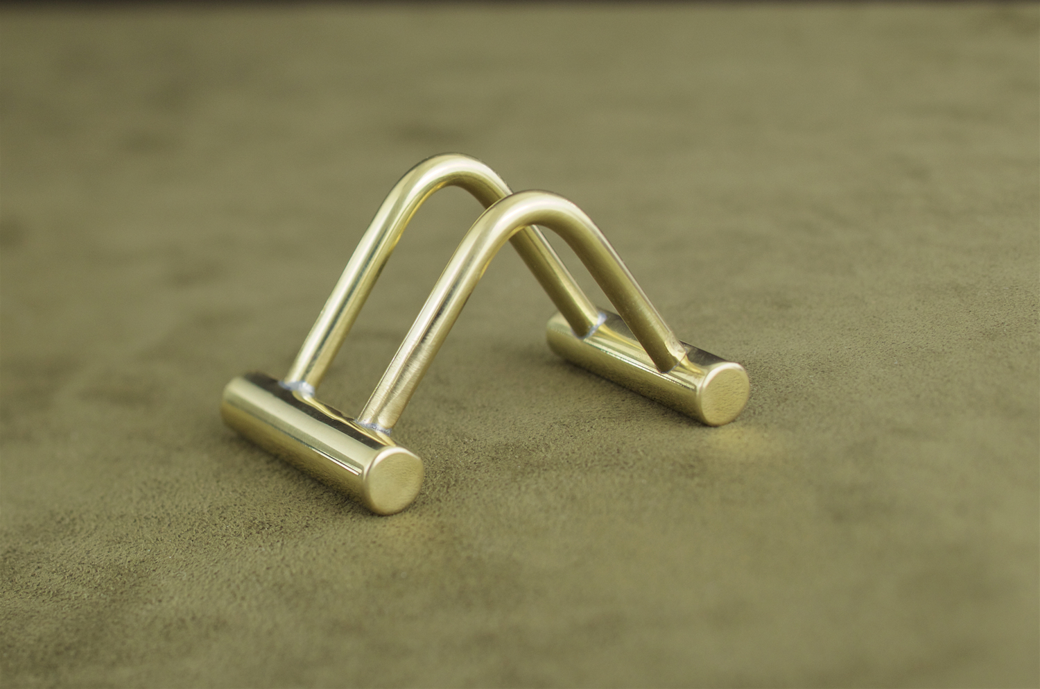 brass business card stand