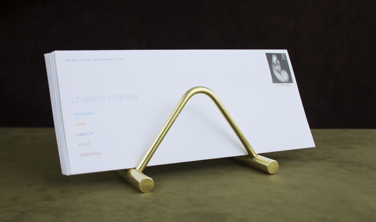 brass letter stand