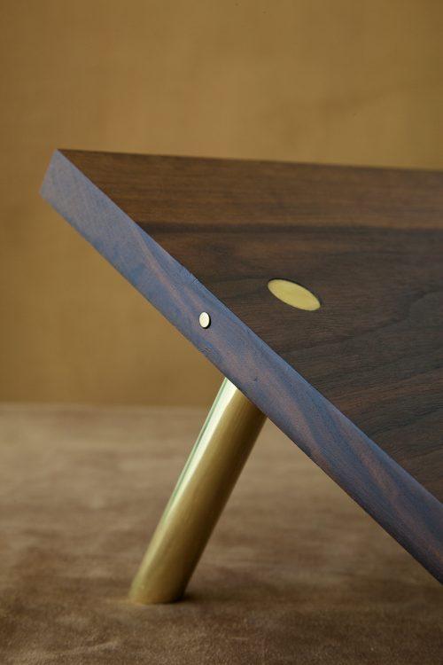 walnut book stand